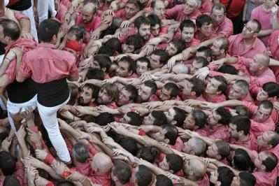 """Diada de El Catllar. """"som-hi!"""" Colla Vella Valls."""